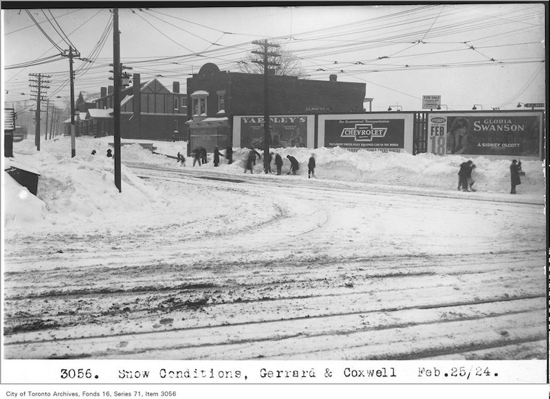 1924 - Feb 25 - Snow conditions, Gerrard and Coxwell