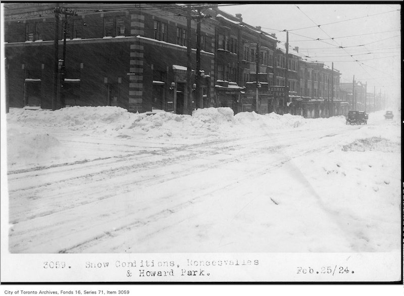 1924 - Feb 25 - Snow conditions, Roncesvalles and Howard Park