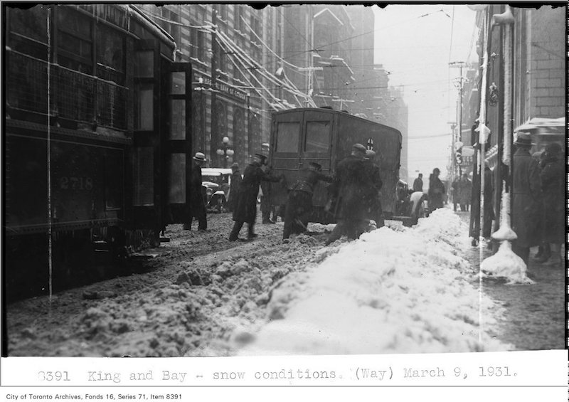 1931 - King and Bay - snow conditions