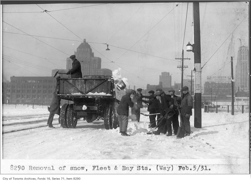1931 - Removal of snow, Fleet and Bay sts