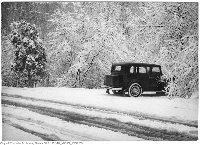 1932 - Nov 16 - High Park - snow scene after storm copy