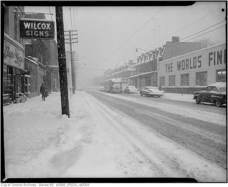 1961 - jan 26 - King Street West at John Street
