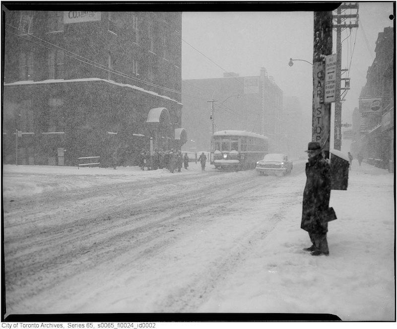 1961 - jan 26 - King Street West at John Street