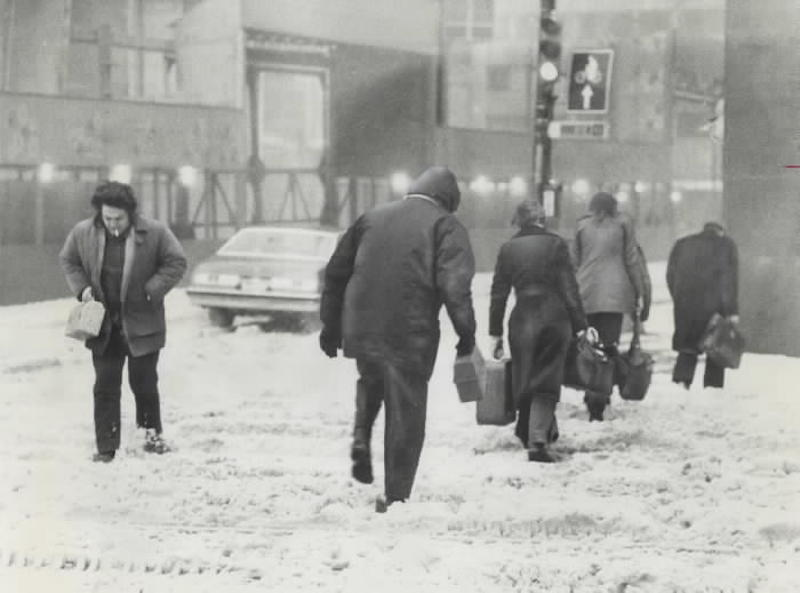 1976 - Toronto was hit by the big storm; above; reader says; but argues that Buffalo's need for snow removal was even greater