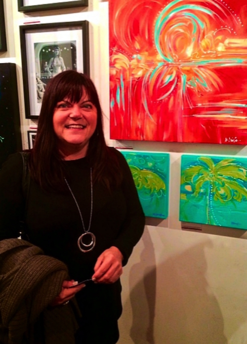 Michelle Dinelle - Here I am with a few of my paintings at 'Bold Expressions', a wonderful exhibition curated by Tanzina Amin, November 4-5, 2016