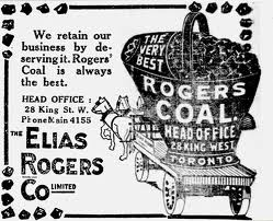 Rogers Coal Co Toronto 1880 newspaper advertisement