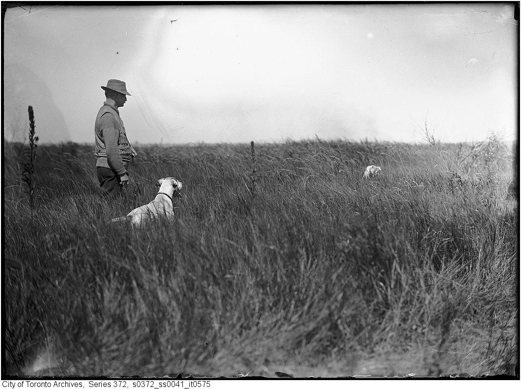 1911 - Mr. Townsend and Sport (dog) Original negative by A.S. Goss