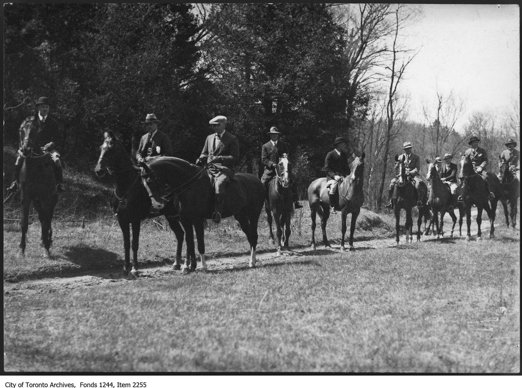 1930 - Hunt Club members on a Sunday morning ride, Armour Heights Ravine