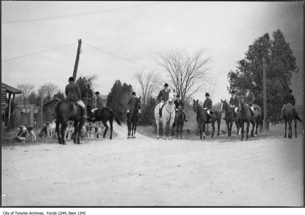 1937? - Aemilius Jarvis (on grey horse) and hunt