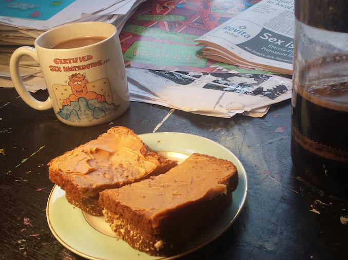 Breakfast - Toast and coffee then try to find where I left my house keys - Runt