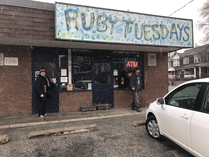 Ruby Tuesdays - after working a full 5 hours its off to my favourite bar ,where I drink draft and ignore people - Runt
