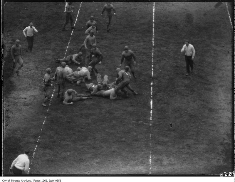 1926 - Kingston, Queen's-Varsity Rugby, on goal line
