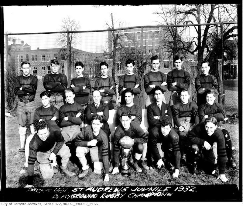1932 - St. Andrew's Playground Juvenile Rugby Team - Playground Champions
