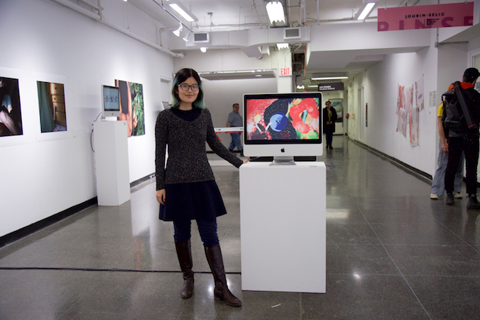 Showing her animation at a group exhibition called 'Gender & Lens