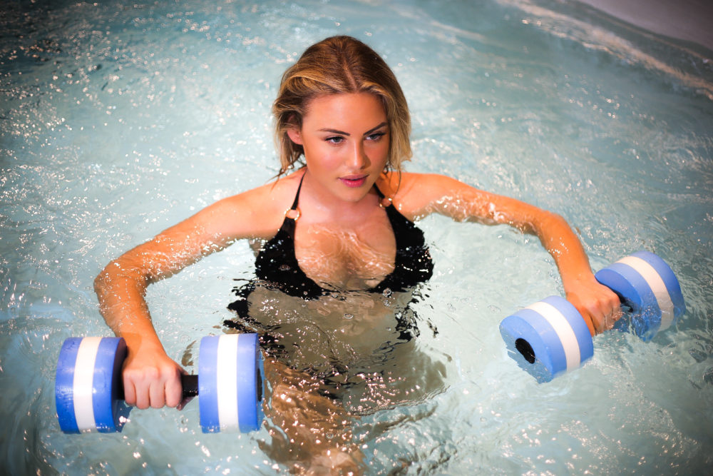 swim spa model work out