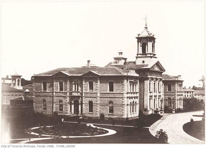 1856 - Normal School building Gould Street, north-side east of Yonge - Vintage Yonge Street