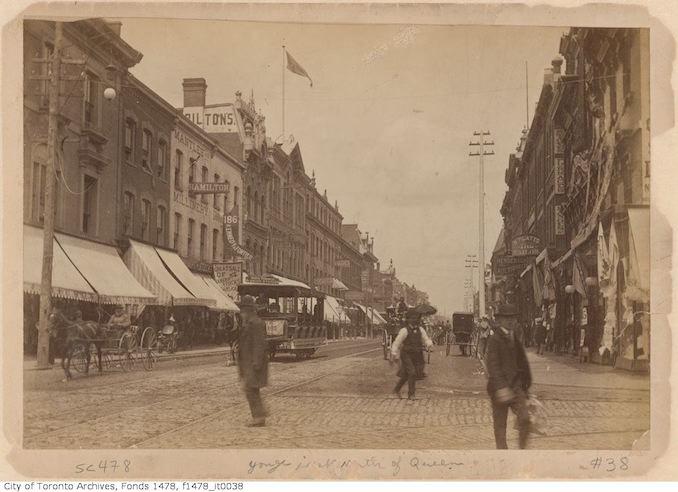 1885 - Yonge Street north of Queen Street - Vintage Yonge Street