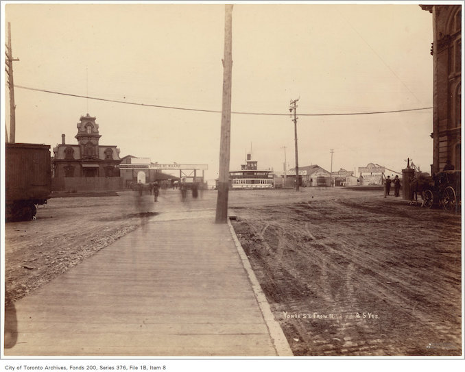 1892 - Yonge Street crossing looking south from 25 yards north of the track