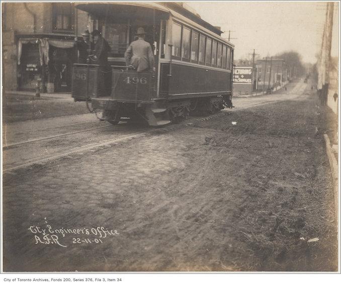 1901 - Yonge Street opposite Belmont Street
