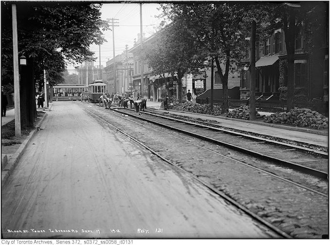 1912 - Bloor Street, Yonge to Avenue Road - track
