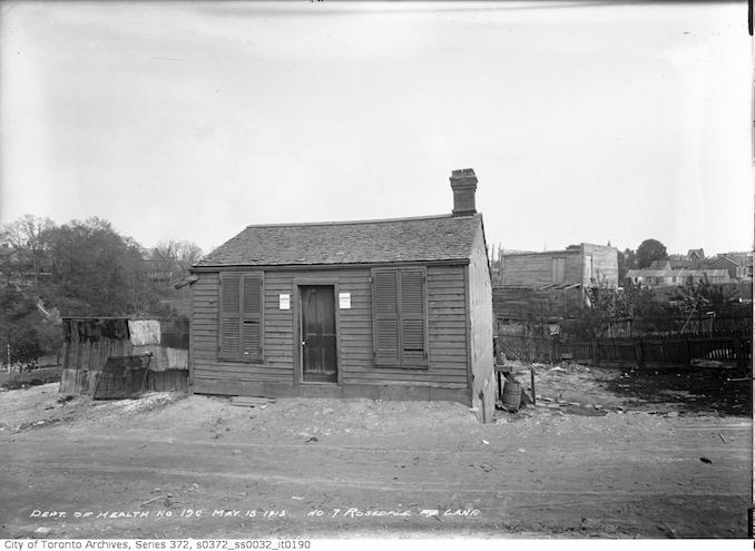 1913 - 7 Rosedale Lane (south side, first house off Yonge Street)