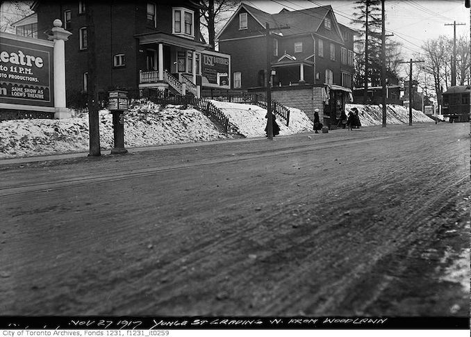 1917 -Yonge Street grading north from Woodlawn Avenue