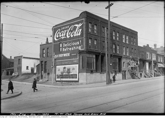1920 - Re Yonge Street Subway Northwest corner Yonge and Birch