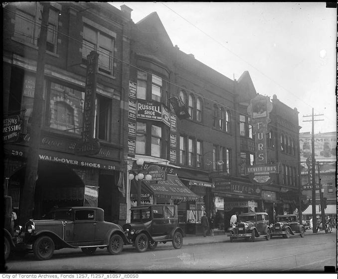 1930 - Yonge Street and Dundas Street West