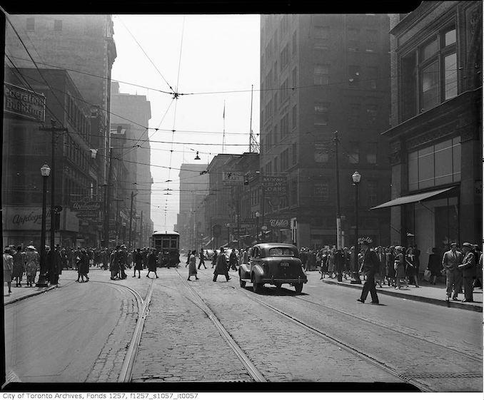 1930 - Yonge Street and Queen Street