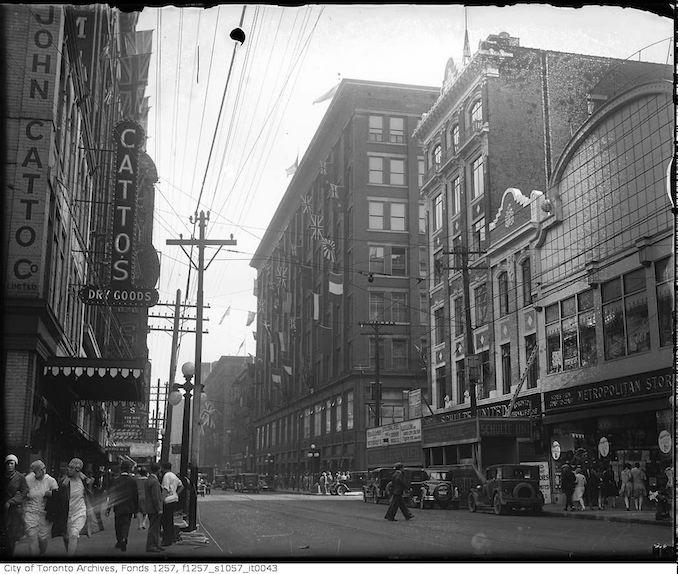 1930 - Yonge Street and Shuter Street
