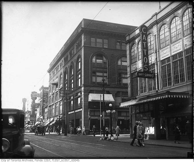 1930 - Yonge Street near Shuter Street