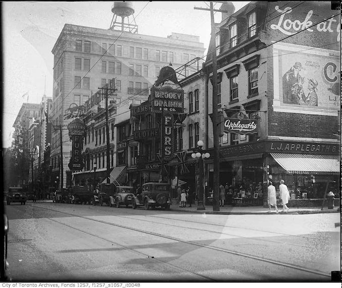 1930 - Yonge Street near Trinity Square