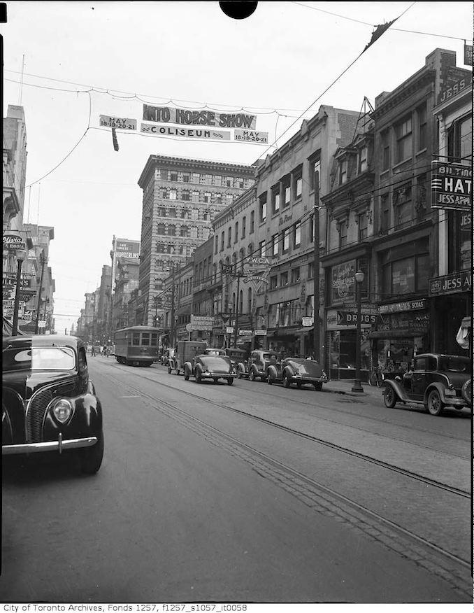 1939 - Yonge Street near Adelaide Street