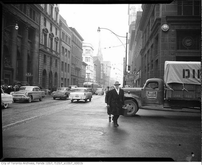 1950 - King Street East near Yonge Street