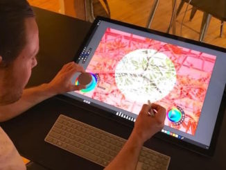 TABLLOYD working on Surface Studio