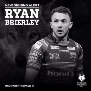 Ryan Brierley, the newest addition to the Toronto Wolfpack Players