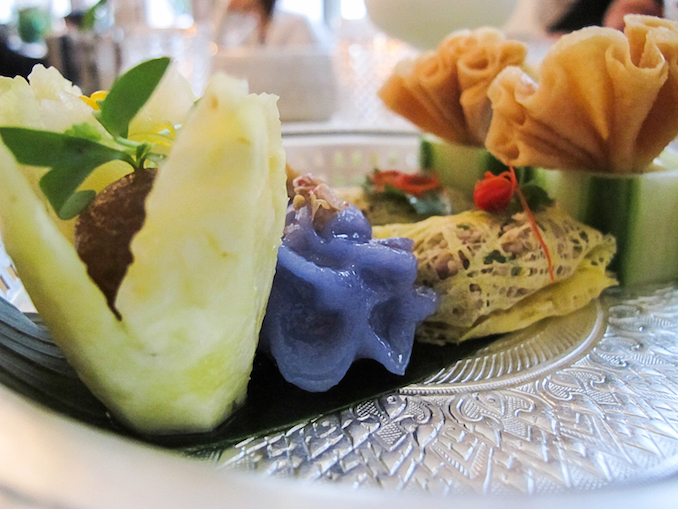 The Thai Royal Platter. A selection of Thai-style bites, similar to Dim Sum, all delicately made. Flavours of sweetness, lemongrass, and fresh fruit make these some of the most memorable bites of the experience - Kiin Toronto