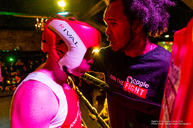 Boxing match to fight end cancer