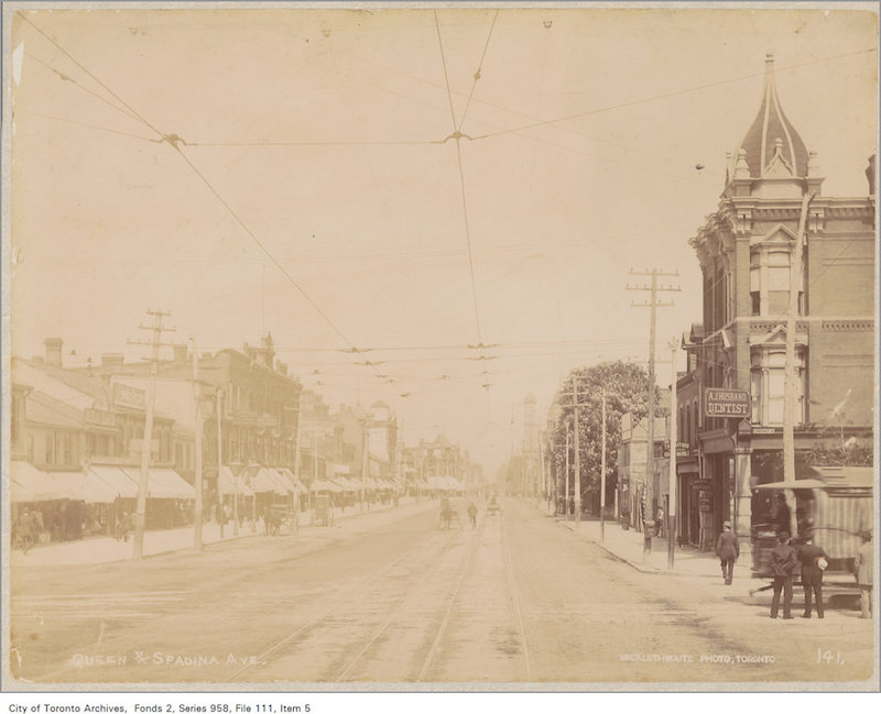 1890? - Queen Street and Spadina Ave - Vintage Queen Street