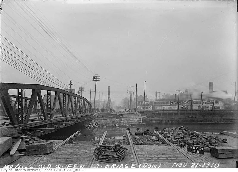 1910 - Nov 21 - Queen Street- Don River Bridge - Vintage Queen Street