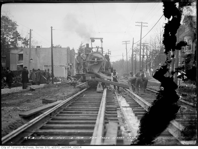 1914 - Nov 13 - New track Queen Street east