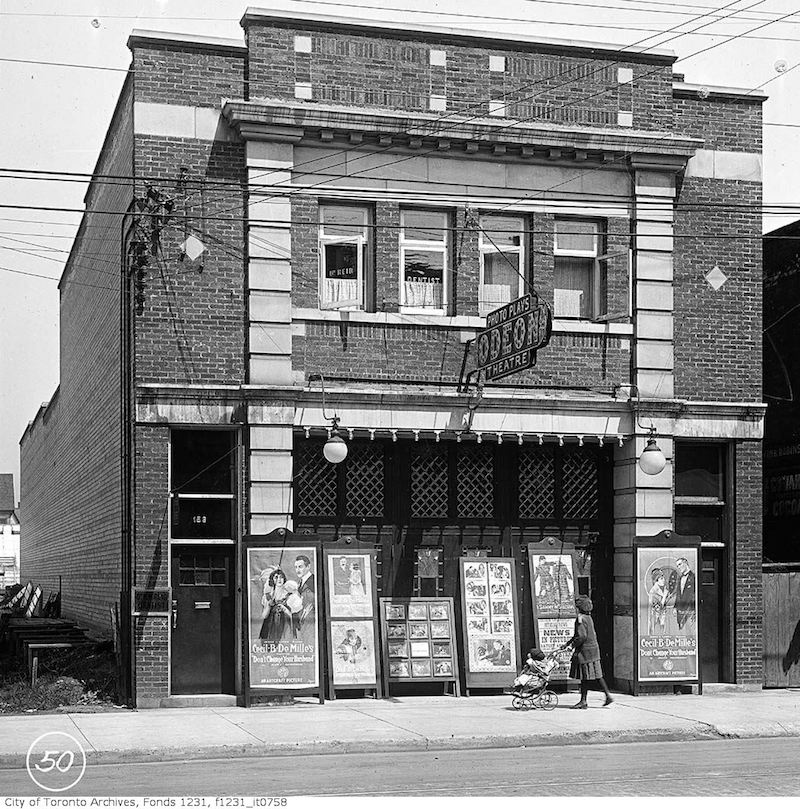 1919 - Odeon Theatre, No. 1558 Queen Street West