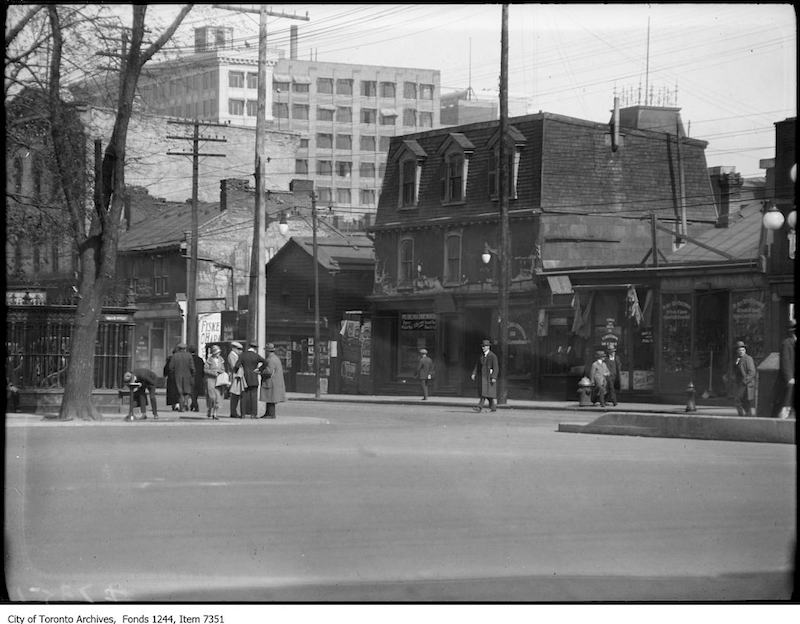 1925 = Queen Street West, south side, looking southeast from end of University Avenue