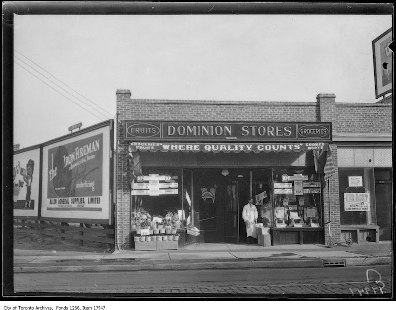 1929 – Sept 13 – Dominion Store, 1284 Queen Street East