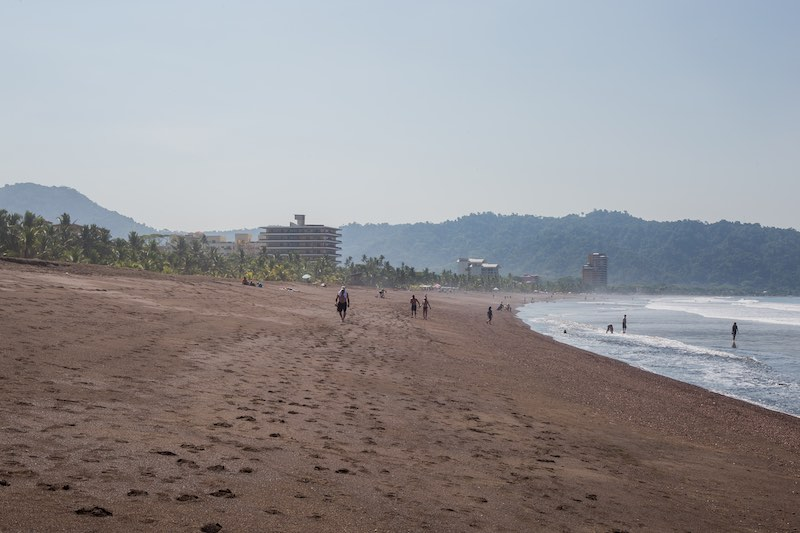 Beach at Croc's Resort and Casino in Jaco, Costa Rica