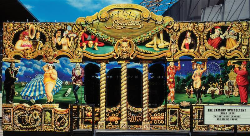 The Famous Spiegeltent Pavilion set up in David Pecaut Square for Luminato 2017.