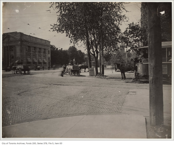 1890? - Intersection of College Street and Spadina Avenue