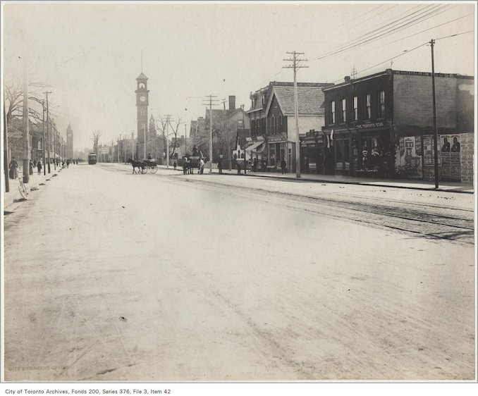 1902 - College Street looking east from Bathurst Street