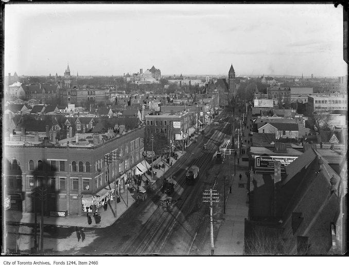 1908 - Looking east from College Street firehall tower