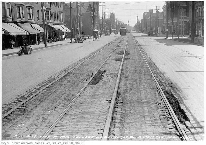 1915 - April 17 - College St. - Bathurst to Ossington Old Track copy